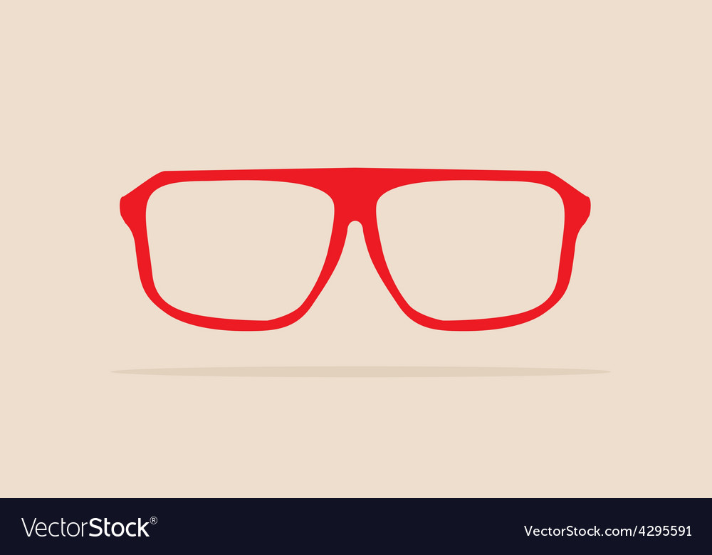 Red retro hipster glasses vector | Price: 1 Credit (USD $1)