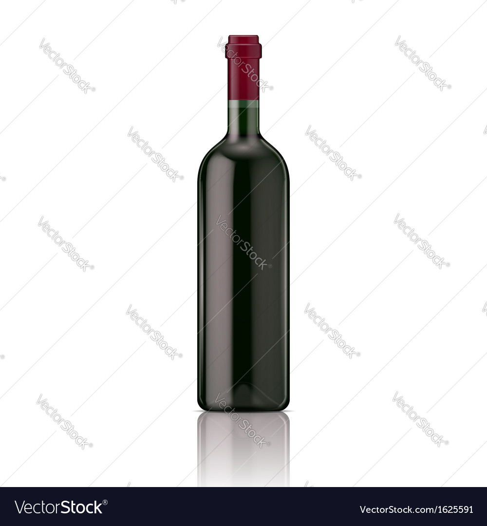 Red wine bottle vector | Price: 1 Credit (USD $1)