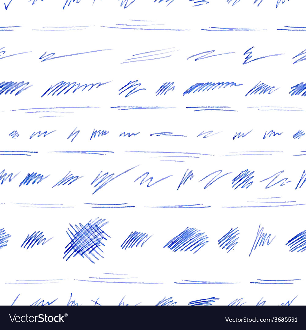 Seamless pattern of hand-drawn pen strokes and vector | Price: 1 Credit (USD $1)