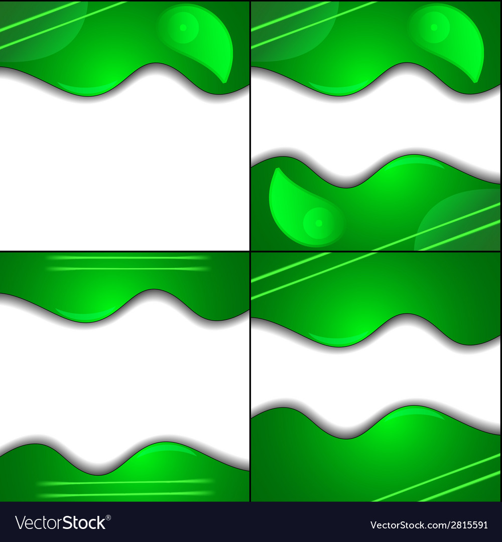 Set green cloth texture background with place for vector | Price: 1 Credit (USD $1)