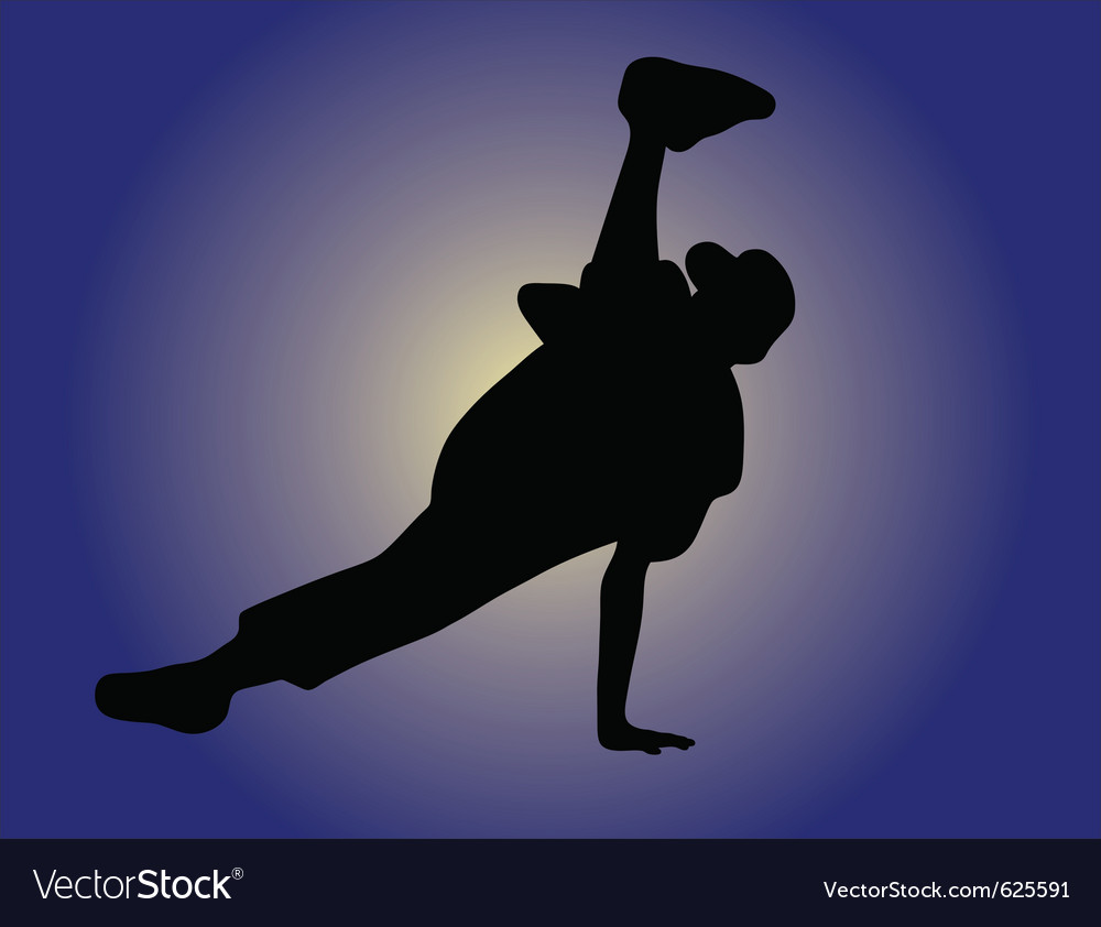 Silhouette of hip hop dancer vector | Price: 1 Credit (USD $1)