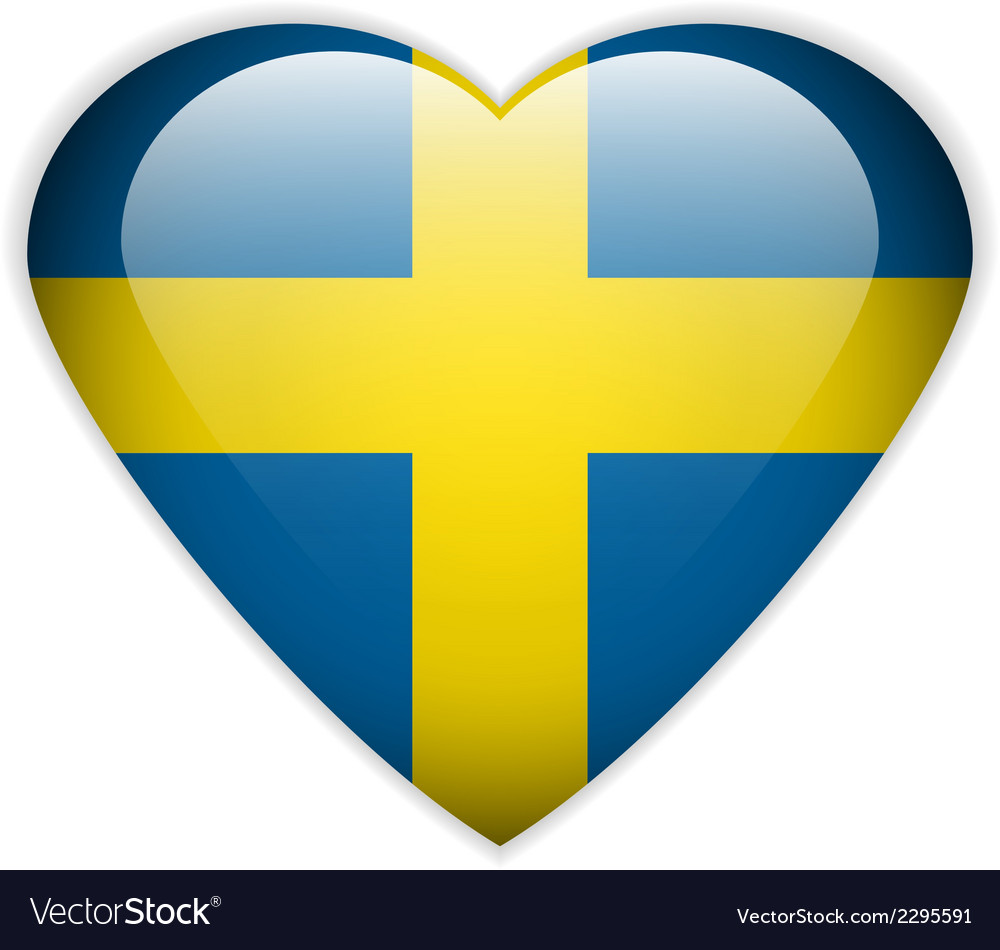 Sweden flag button vector | Price: 1 Credit (USD $1)