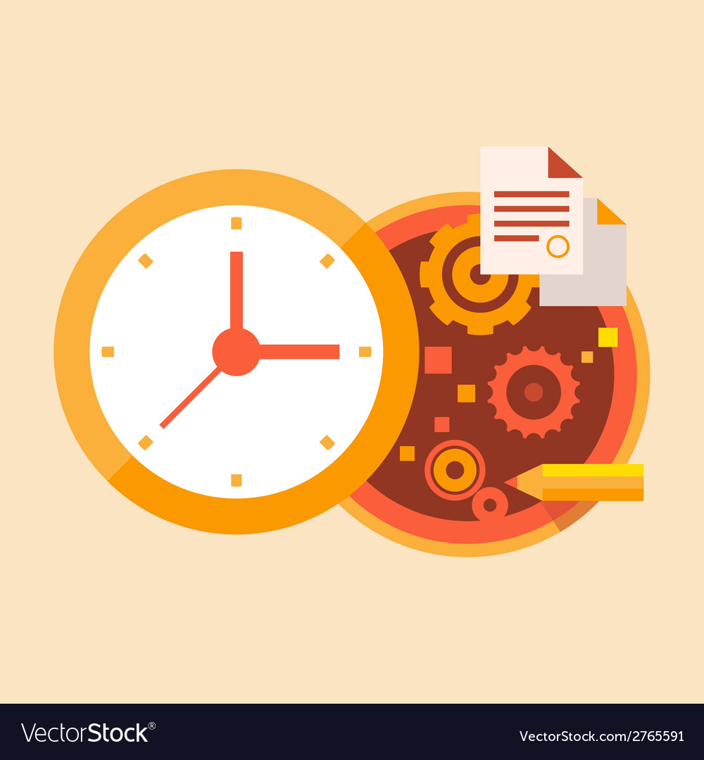 Time business and office work vector | Price: 1 Credit (USD $1)