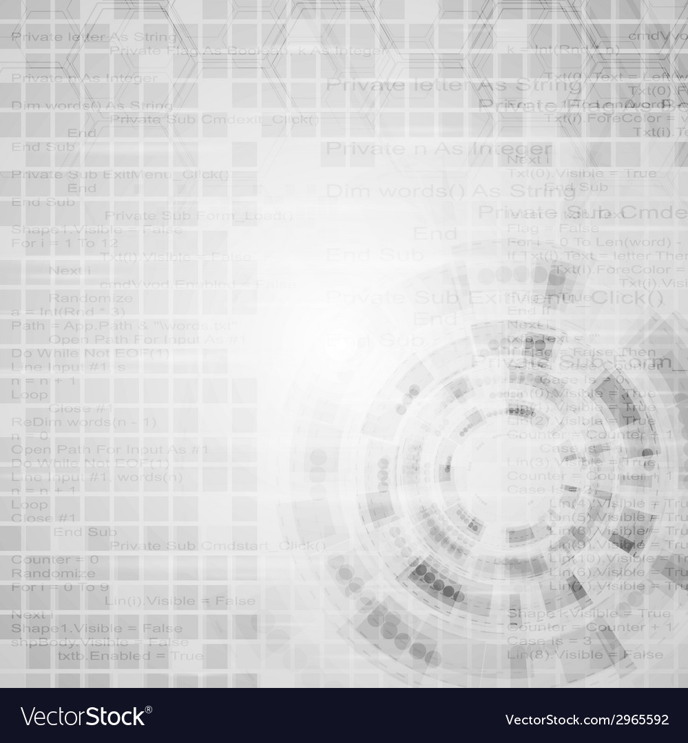 Abstract grey engineering tech background vector | Price: 1 Credit (USD $1)