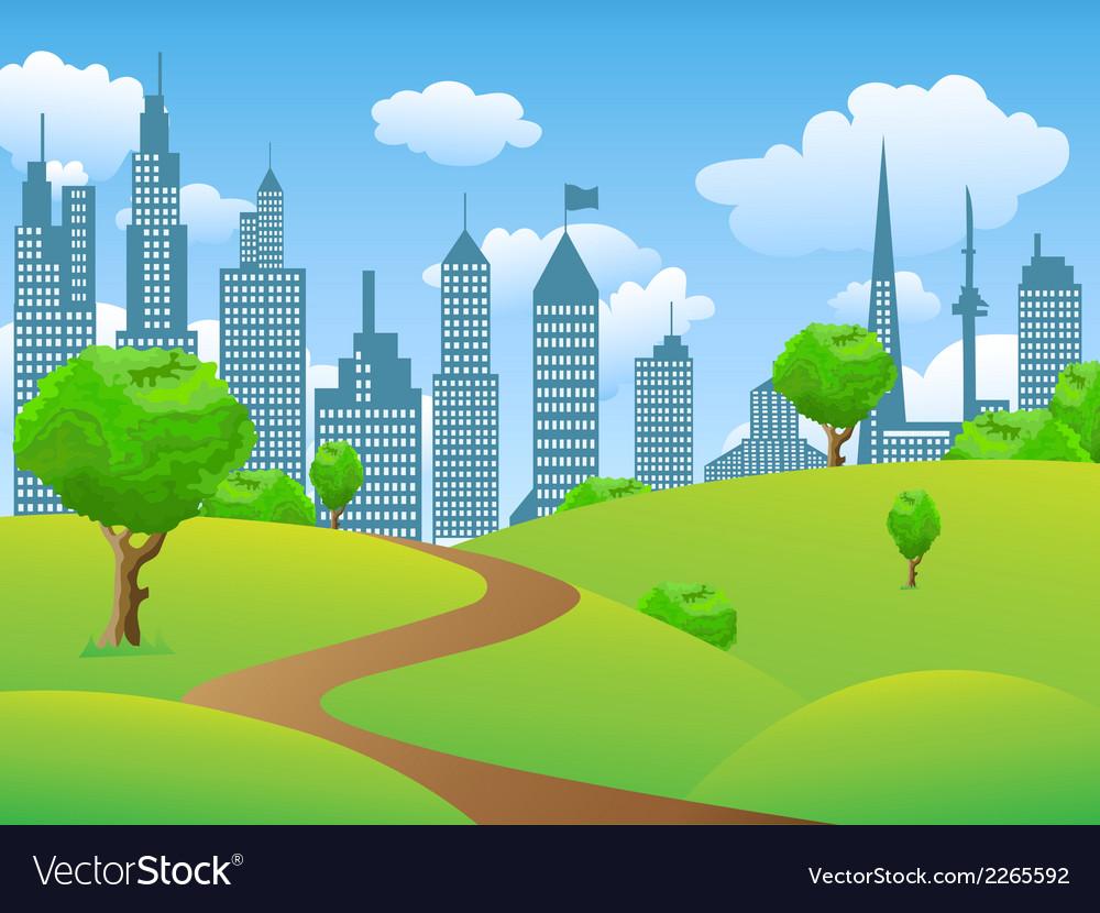 City park landscape vector | Price: 1 Credit (USD $1)