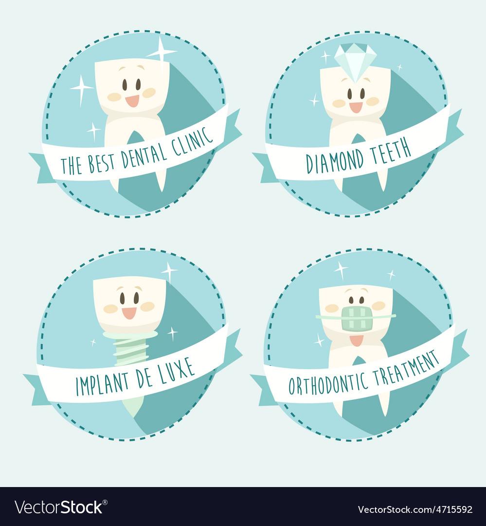 Concept of healthy teeth icon set vector | Price: 1 Credit (USD $1)