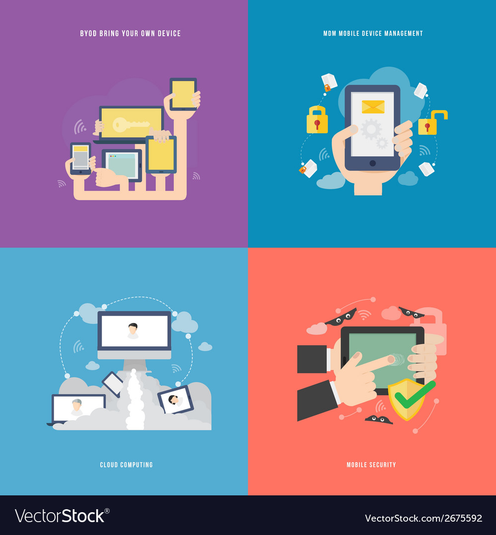 Element of mobile technology concept icon in flat vector | Price: 1 Credit (USD $1)
