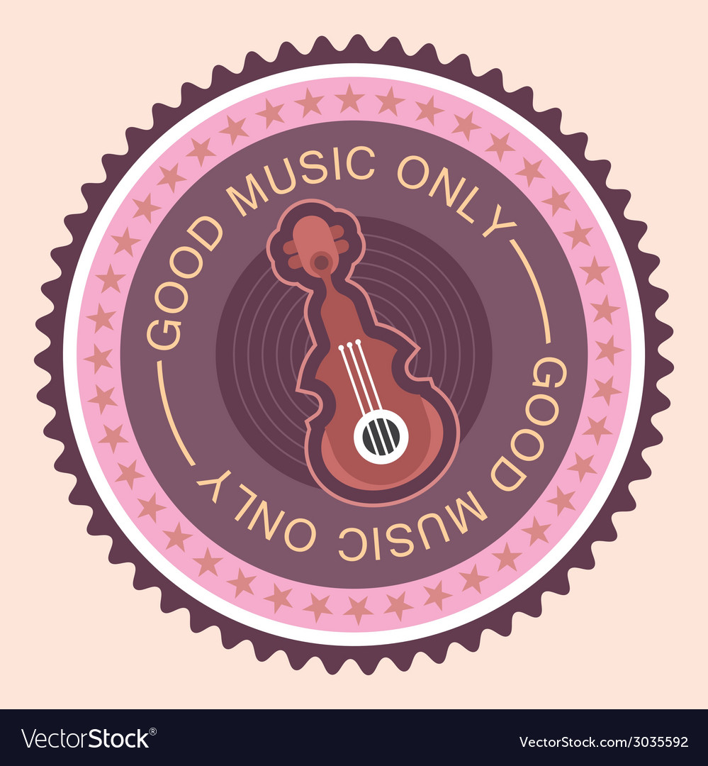 Good music only vector | Price: 1 Credit (USD $1)