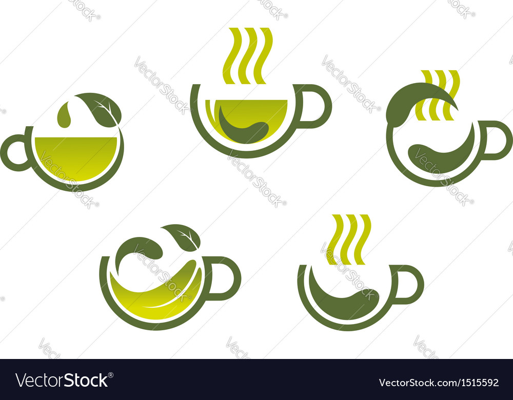 Herbal tea symbols vector | Price: 1 Credit (USD $1)