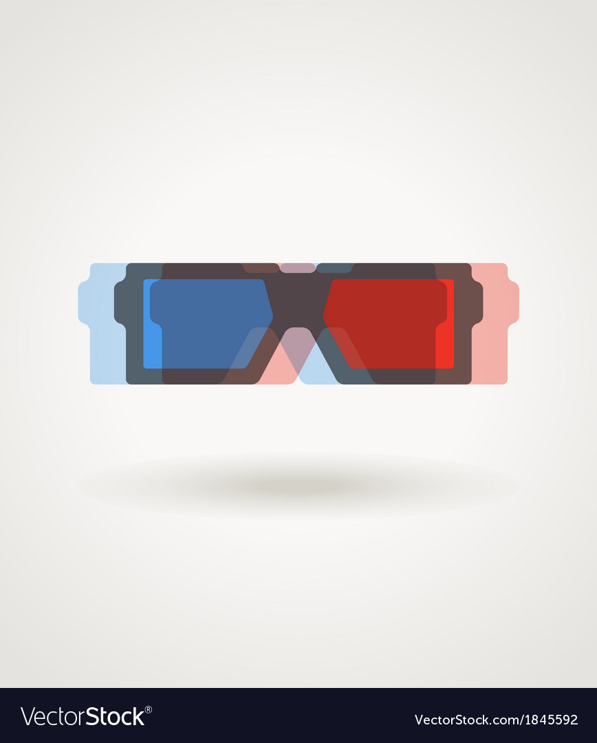 Modern 3d cinema glasses vector | Price: 1 Credit (USD $1)