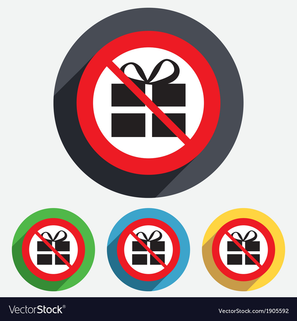 No gift box sign icon present symbol vector | Price: 1 Credit (USD $1)