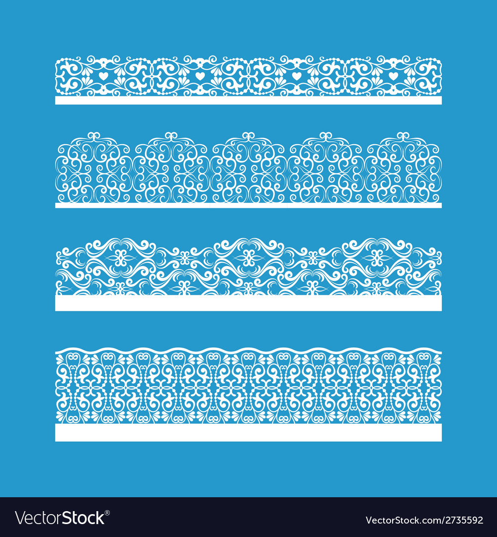 Seamless decorative vintage borders vector | Price: 1 Credit (USD $1)
