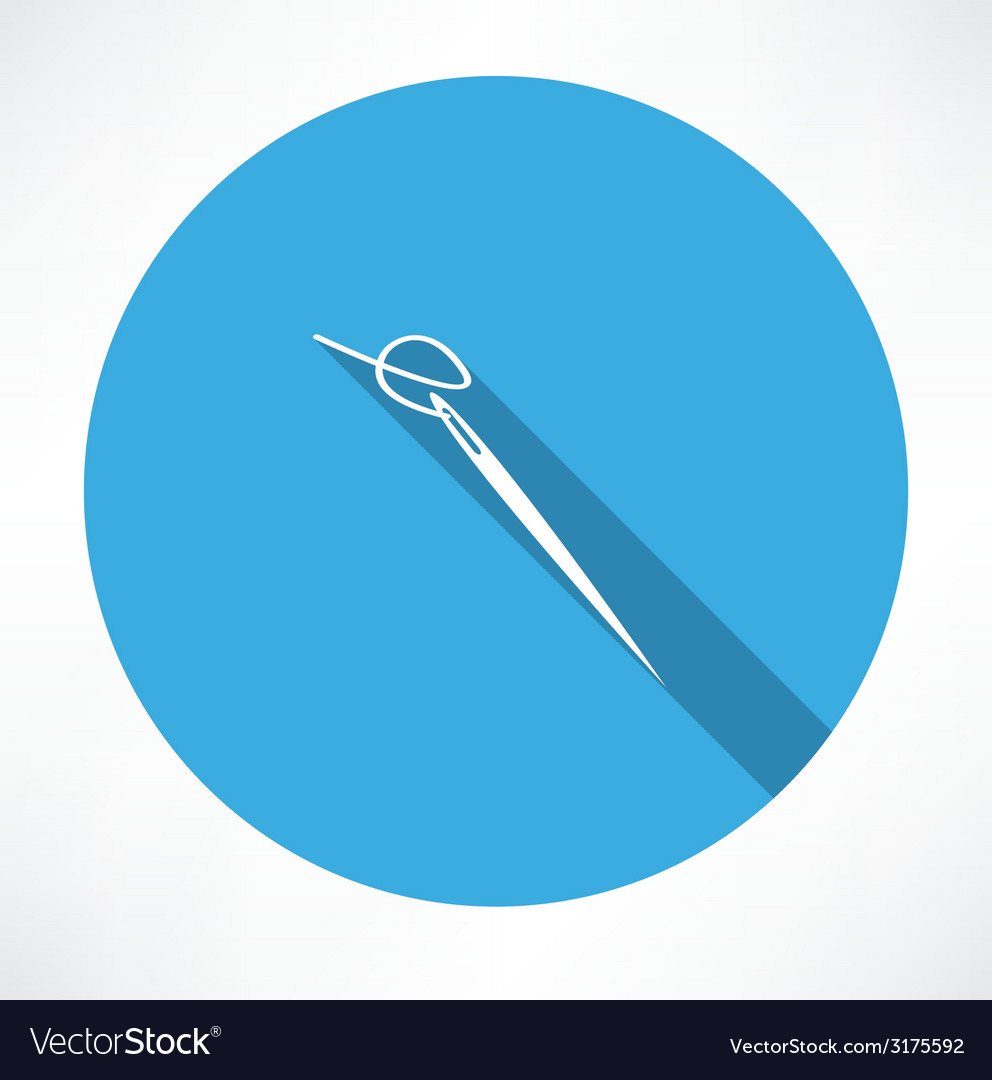 Sewing needle icon vector   Price: 1 Credit (USD $1)