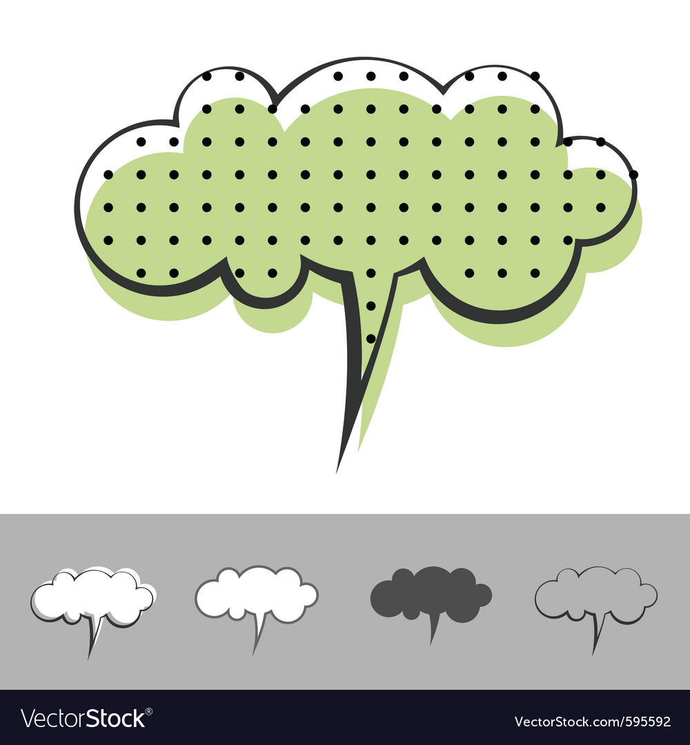 Speech balloon vector | Price: 1 Credit (USD $1)