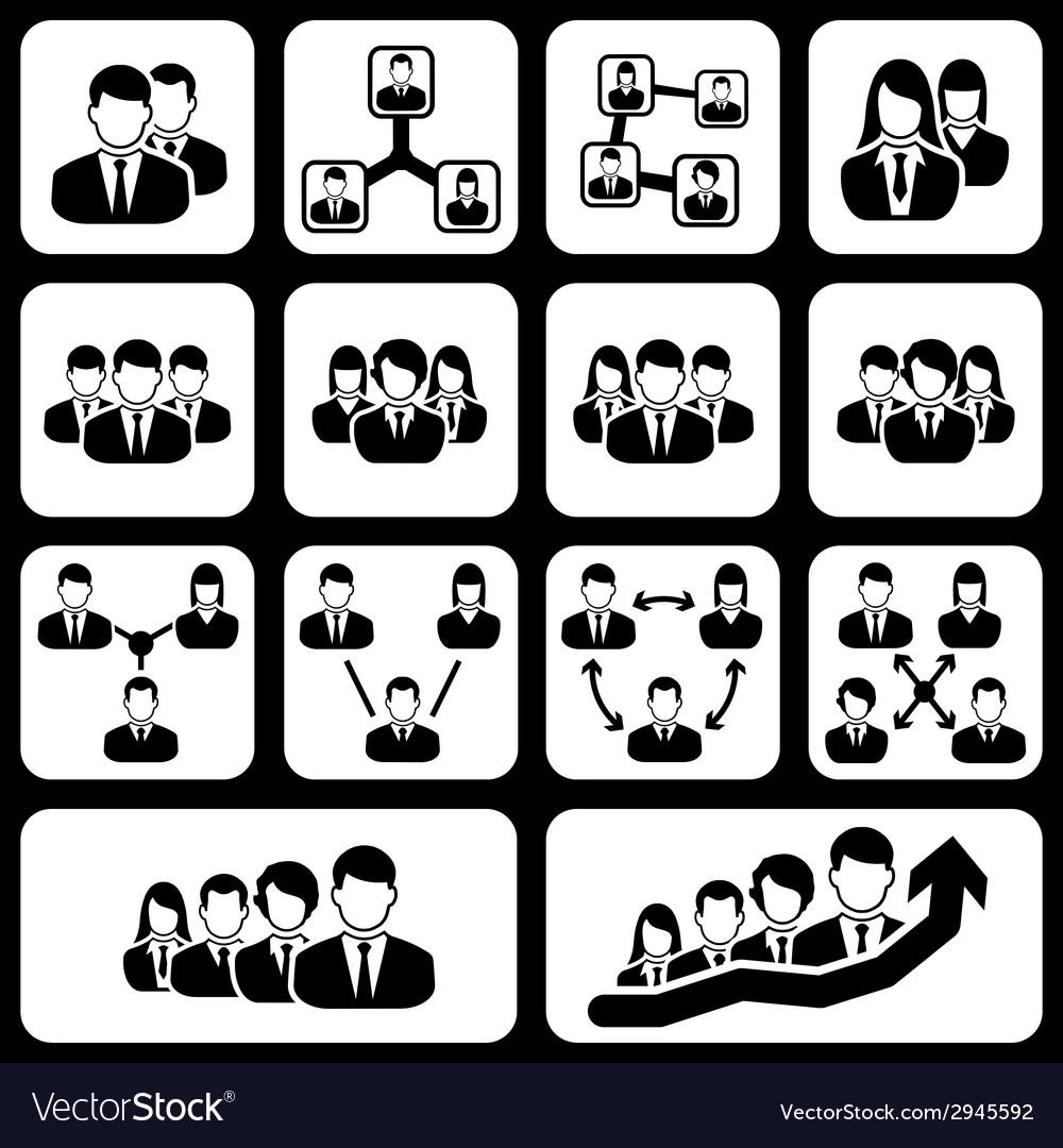 Teamwork user icon vector   Price: 1 Credit (USD $1)