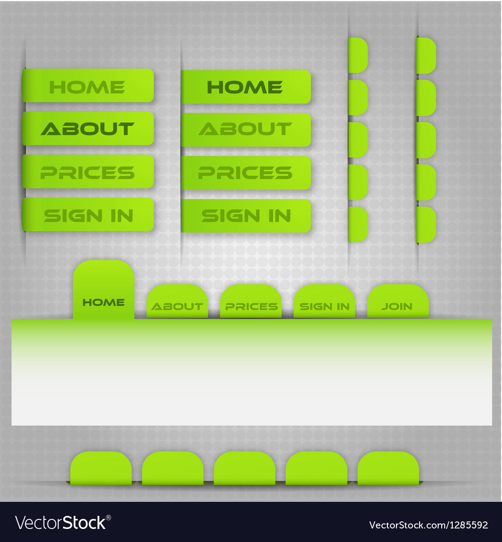 Template for site menu vector | Price: 1 Credit (USD $1)