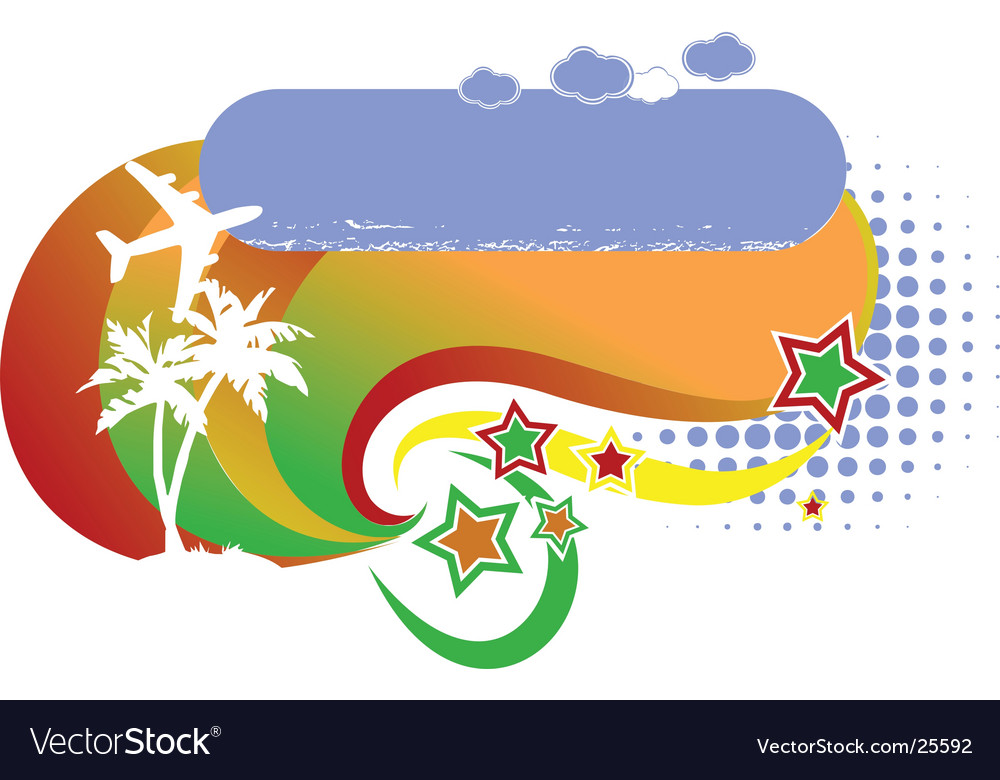 Tropical avian vacation logo vector | Price: 1 Credit (USD $1)