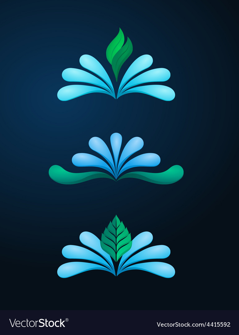 Water logo vector | Price: 1 Credit (USD $1)