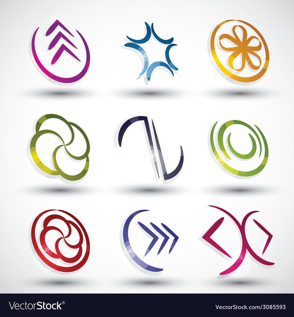 Abstract modern style icons vector | Price: 1 Credit (USD $1)