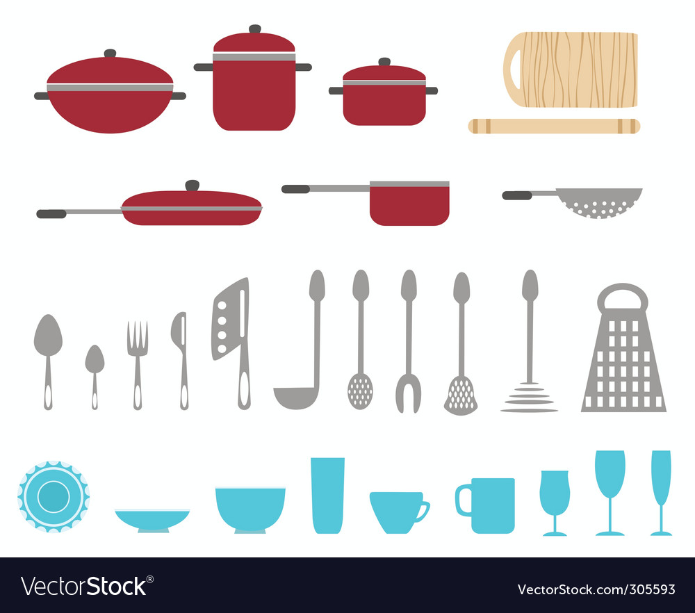 Cartoon kitchen vector