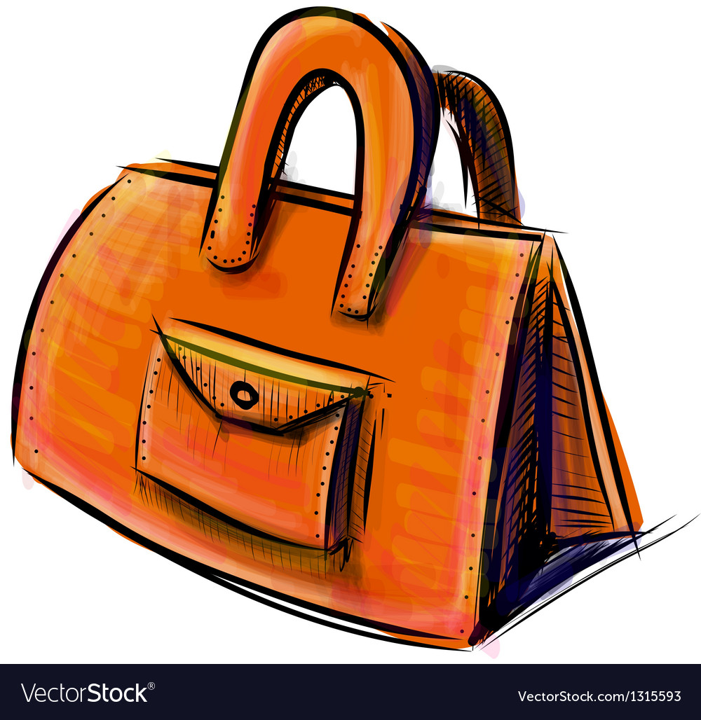 Hand bag isolated on white vector | Price: 1 Credit (USD $1)