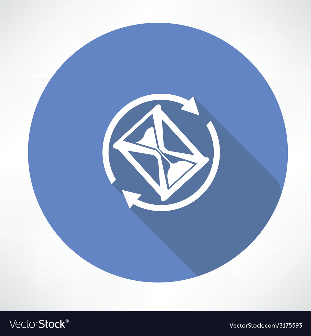 Hourglass in the cycle icon vector | Price: 1 Credit (USD $1)