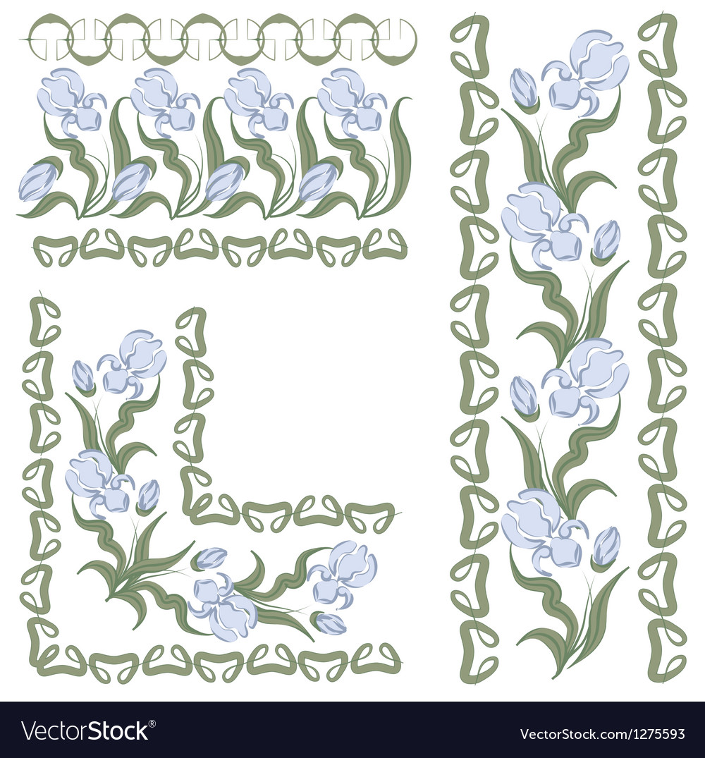 Iris pattern vector | Price: 1 Credit (USD $1)