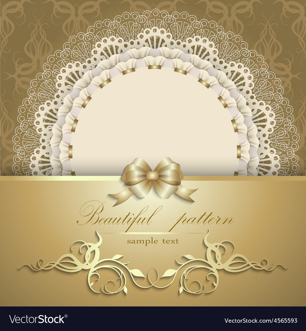 Luxurious gold background with napkin vector   Price: 1 Credit (USD $1)