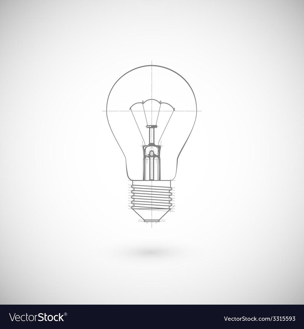 Of lightbulb vector | Price: 1 Credit (USD $1)