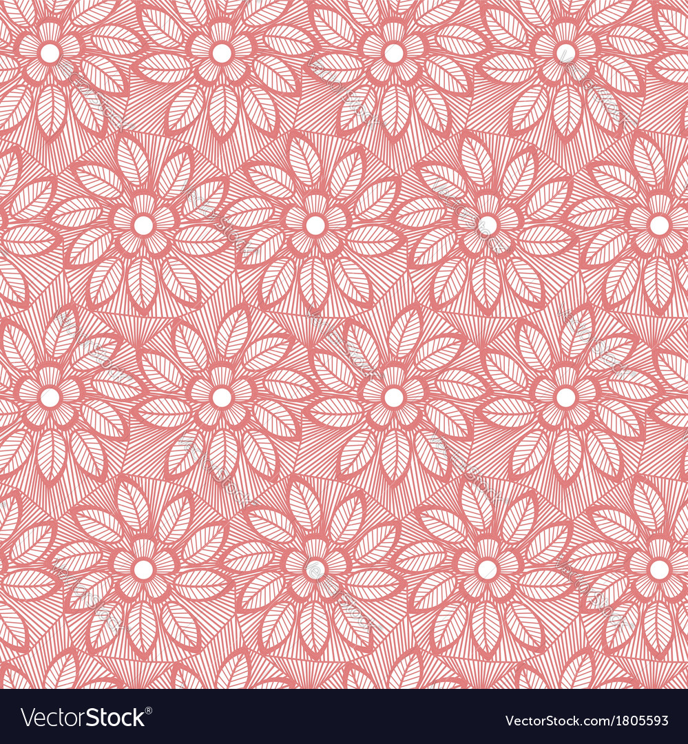 Seamless flower lace made of lines vector | Price: 1 Credit (USD $1)