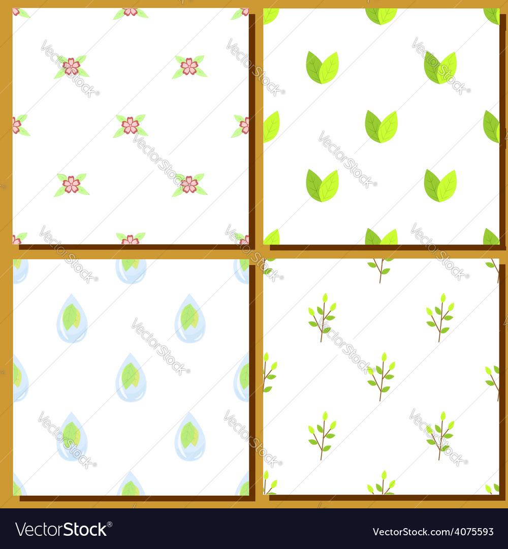 Set seamless green vector | Price: 1 Credit (USD $1)