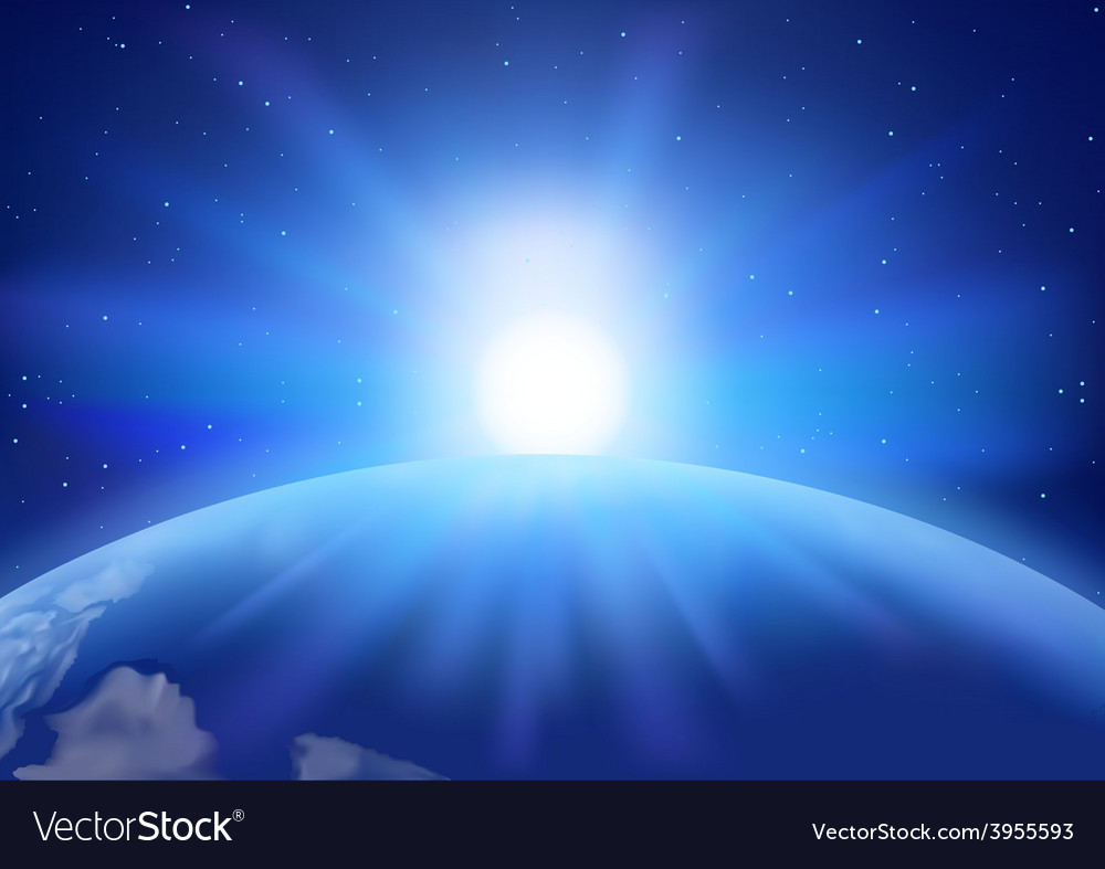 Space sunset background vector | Price: 1 Credit (USD $1)