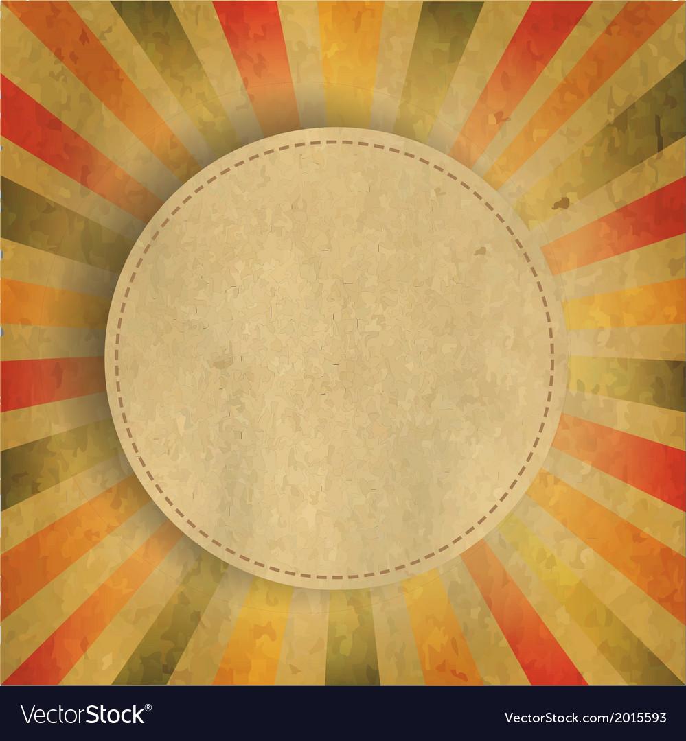 Square shaped sunburst with speech bubble vector | Price: 1 Credit (USD $1)