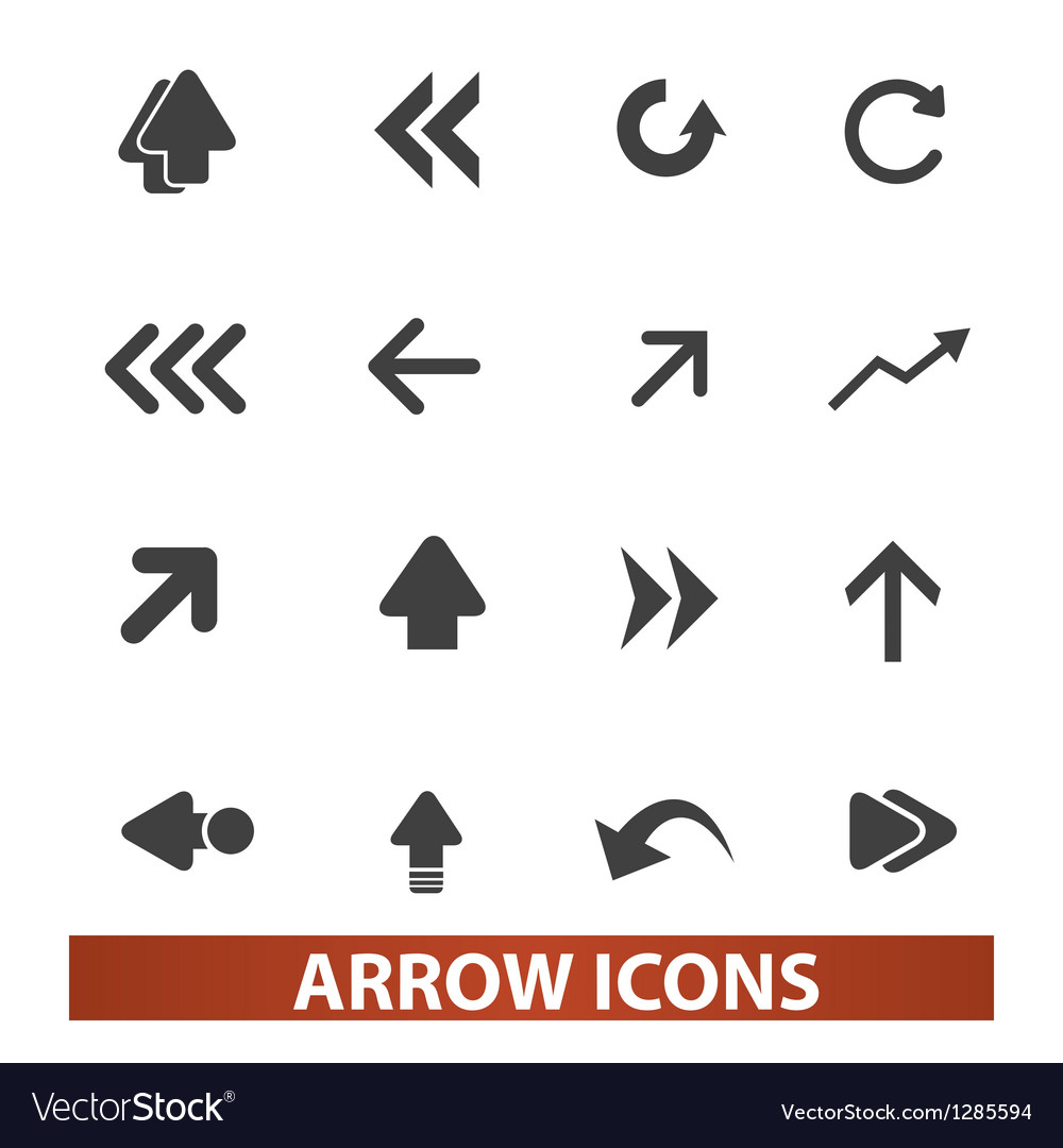 Arrow icons signs set for web and mobile design vector | Price: 1 Credit (USD $1)