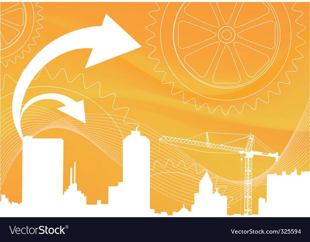 Business city vector | Price: 1 Credit (USD $1)