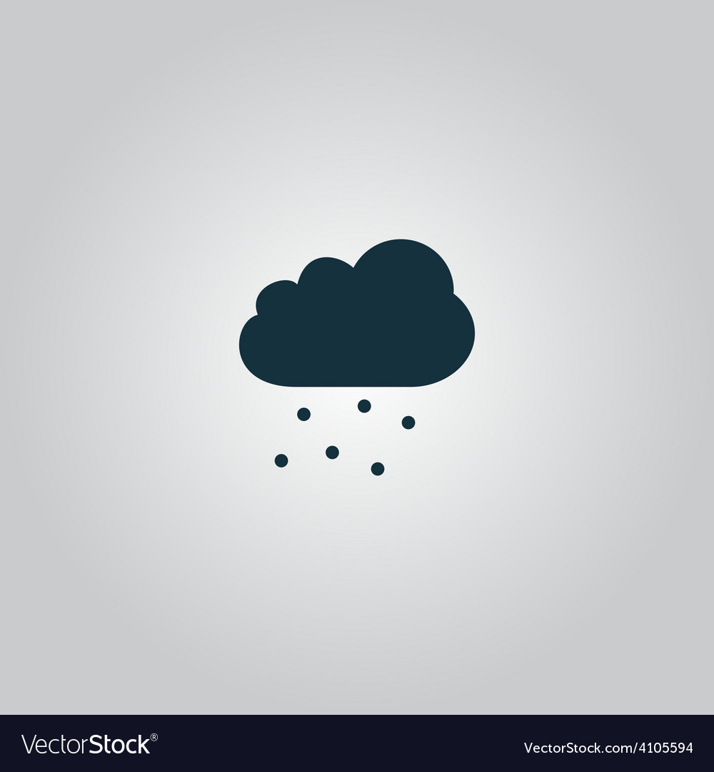 Cloud with hail vector | Price: 1 Credit (USD $1)