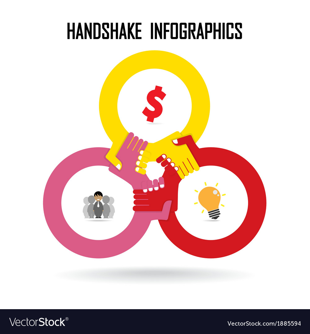 Handshake abstract design vector | Price: 1 Credit (USD $1)