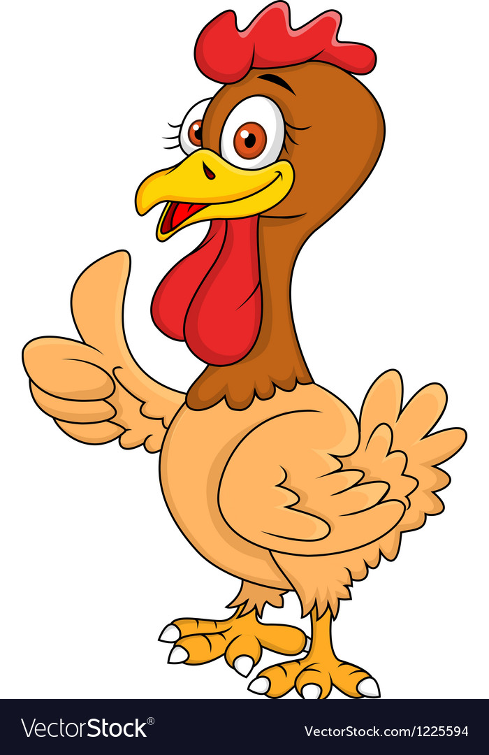 Hen cartoon with thumb up vector | Price: 3 Credit (USD $3)