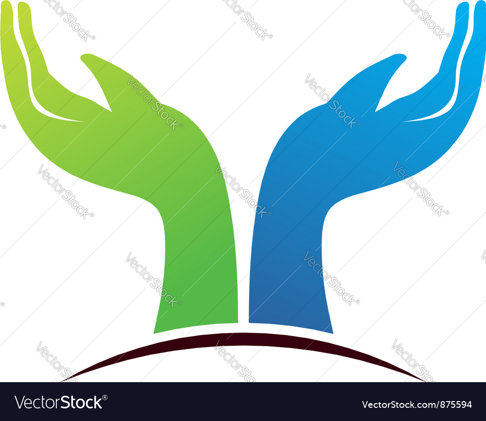 Hope hands vector | Price: 1 Credit (USD $1)