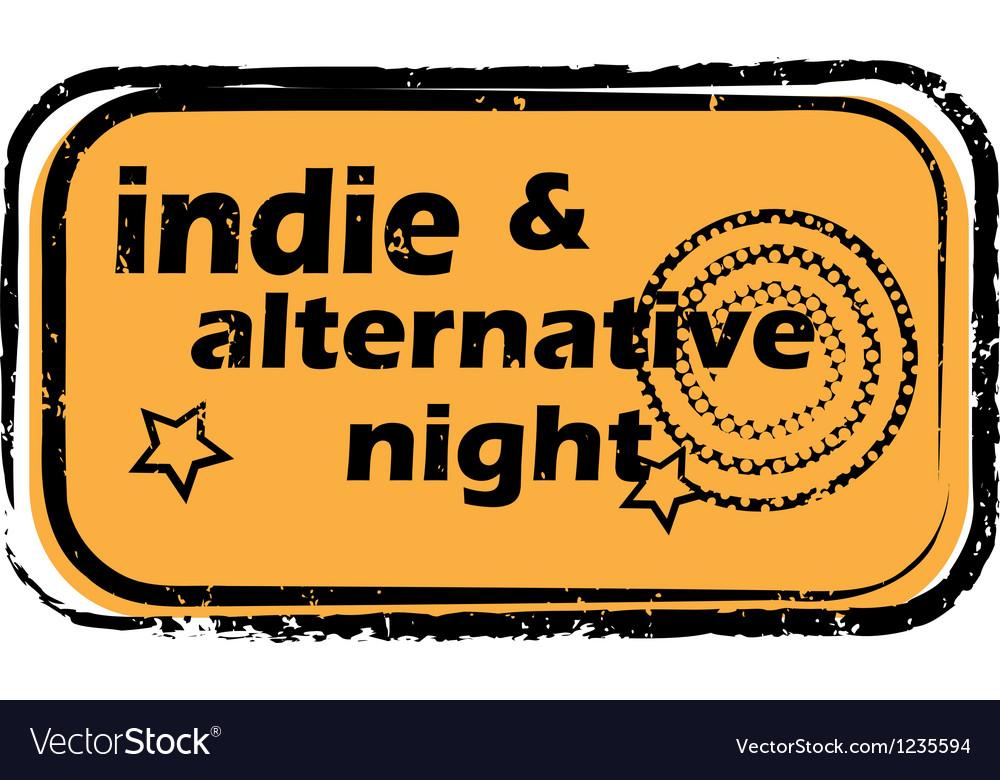 Indie alternative night stamp vector | Price: 1 Credit (USD $1)
