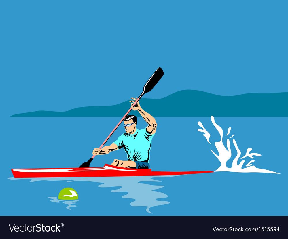 Kayak paddler vector | Price: 1 Credit (USD $1)