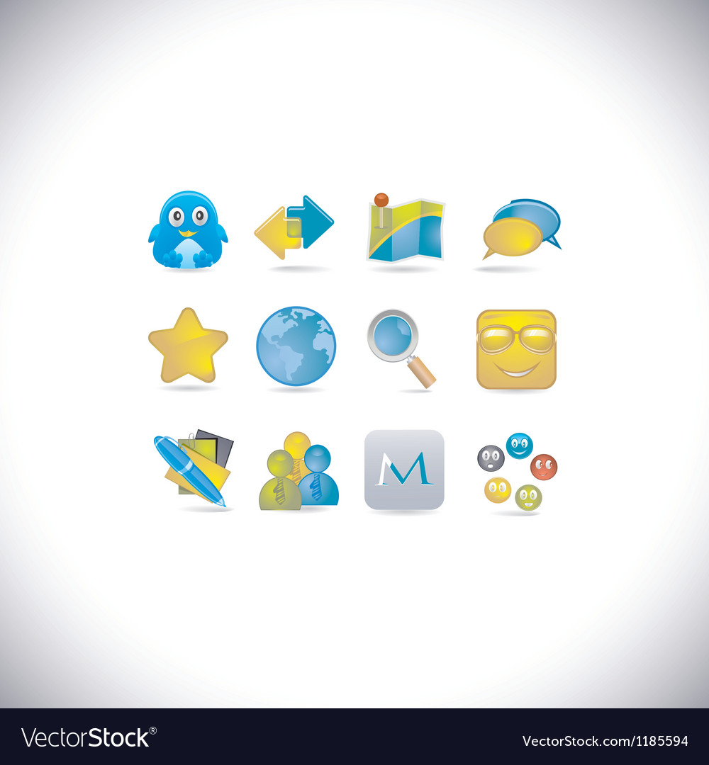 Social set vector | Price: 3 Credit (USD $3)
