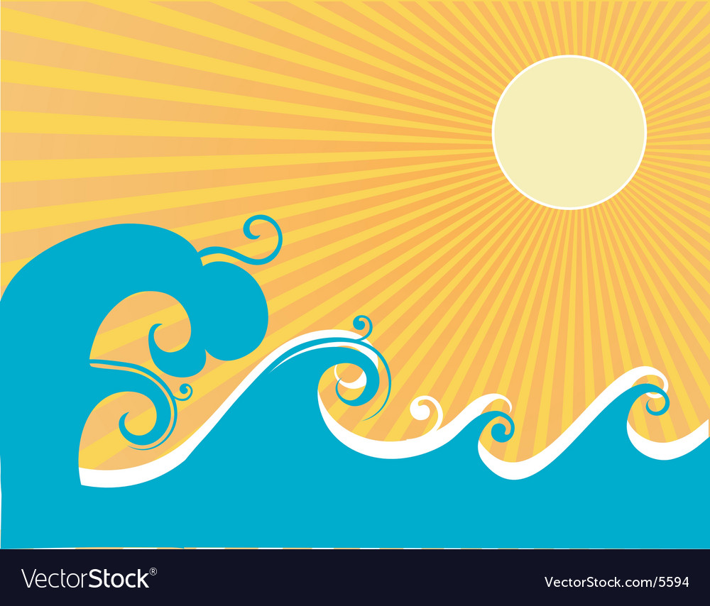 Stylized ocean graphic vector | Price: 1 Credit (USD $1)