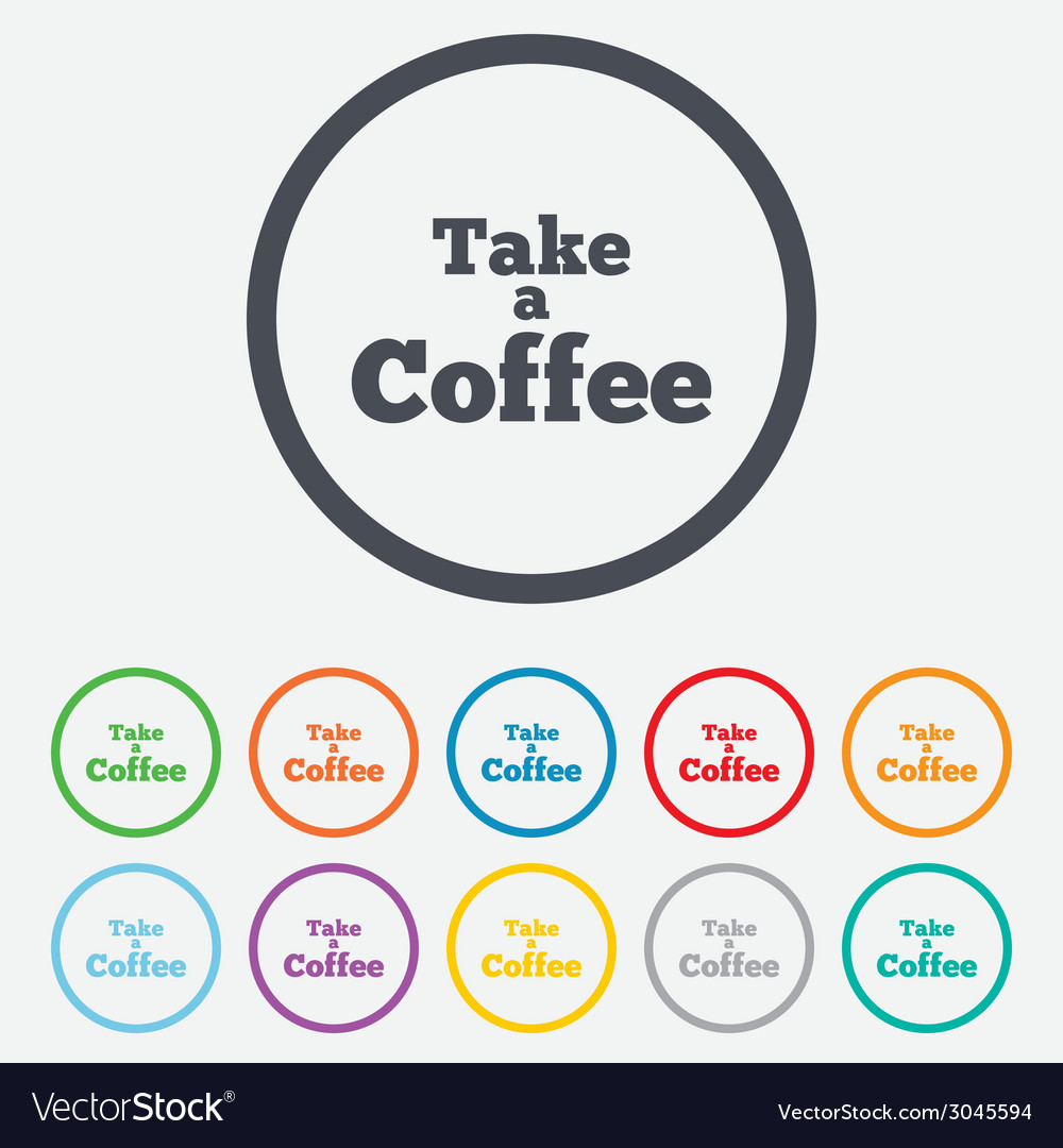 Take a coffee sign icon coffee away symbol vector | Price: 1 Credit (USD $1)