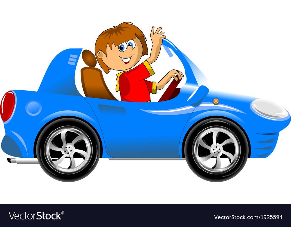 Teen driving car vector   Price: 1 Credit (USD $1)