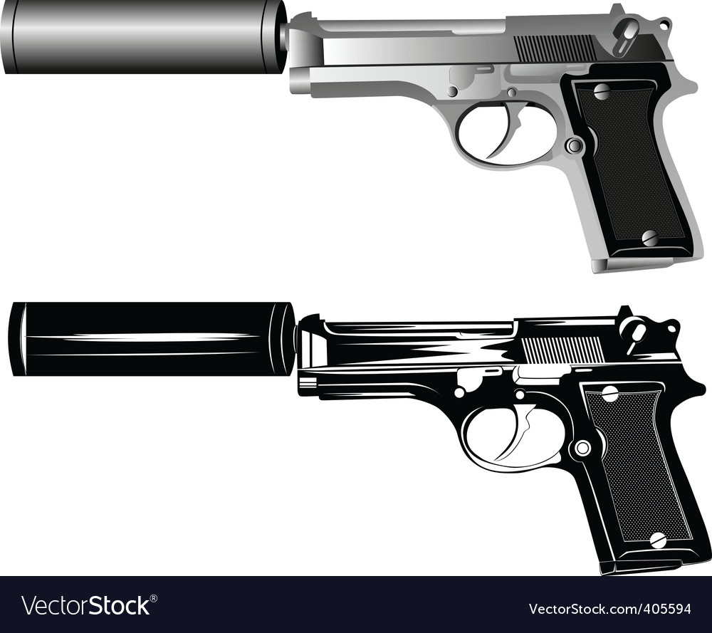 Two pistols vector | Price: 3 Credit (USD $3)
