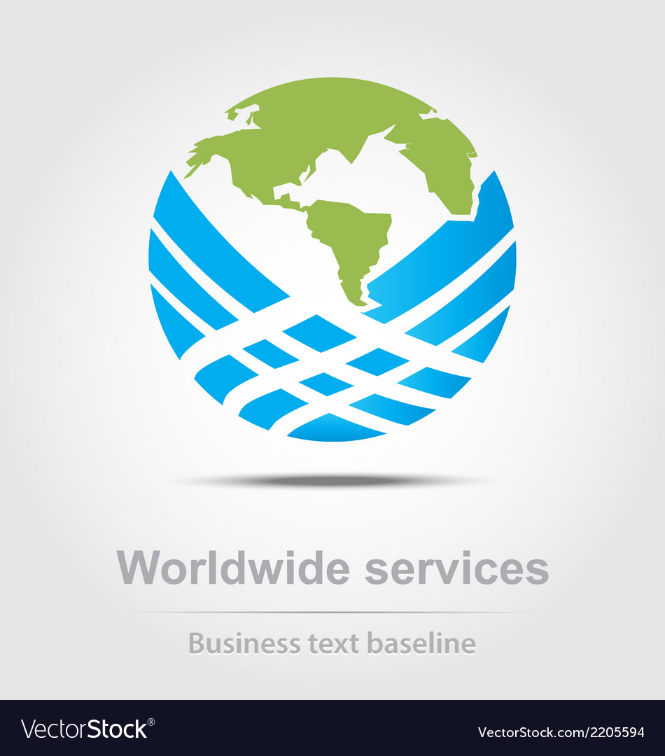 Worldwide services business icon vector | Price: 1 Credit (USD $1)