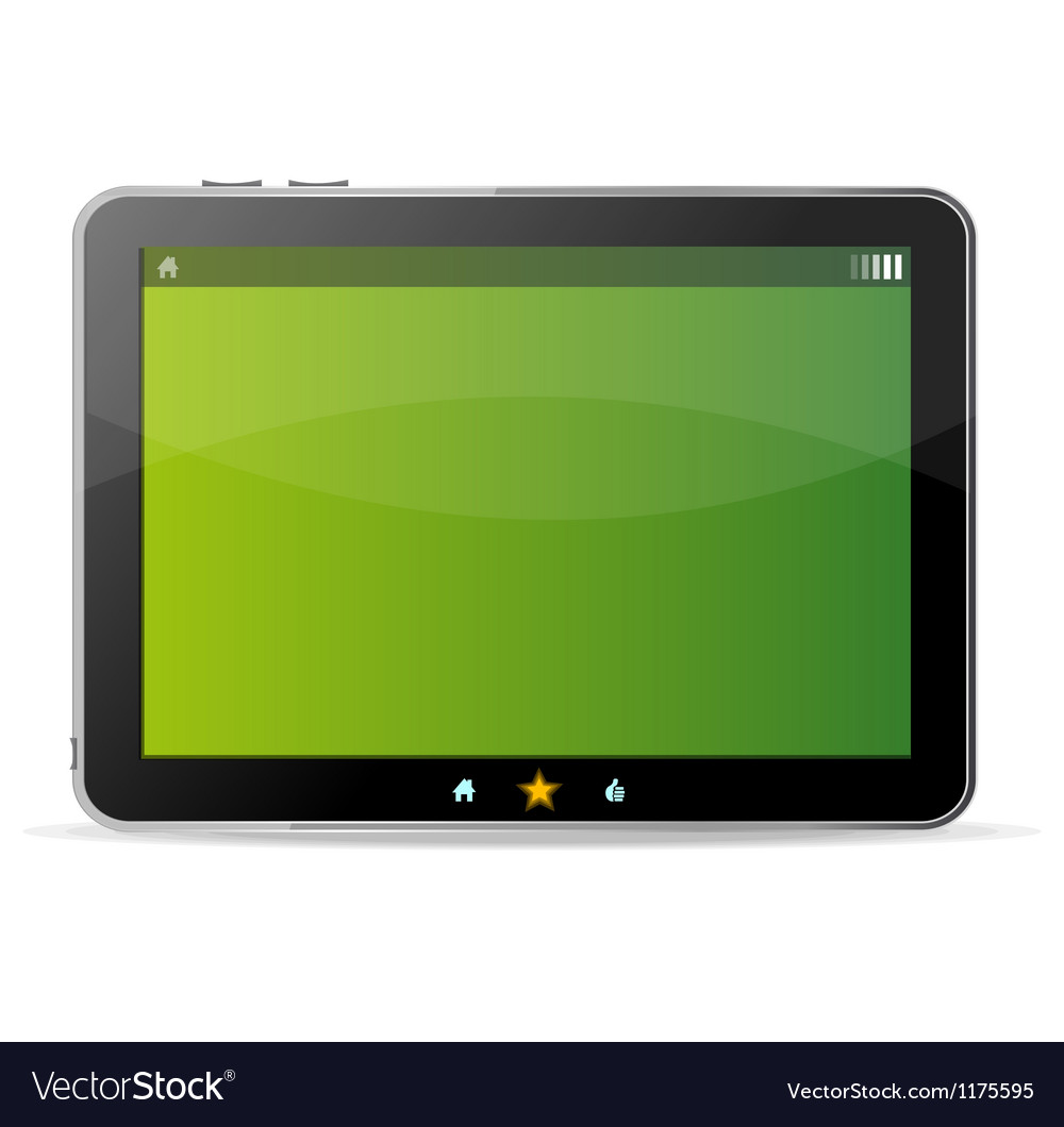 Black tablet like ipade on white background and vector