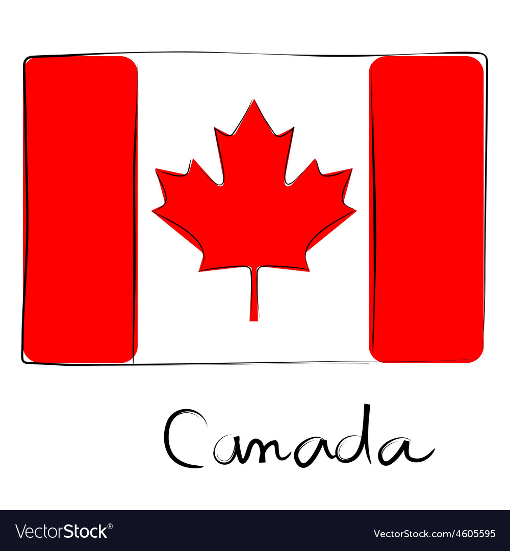 Canada flag doodle vector | Price: 1 Credit (USD $1)