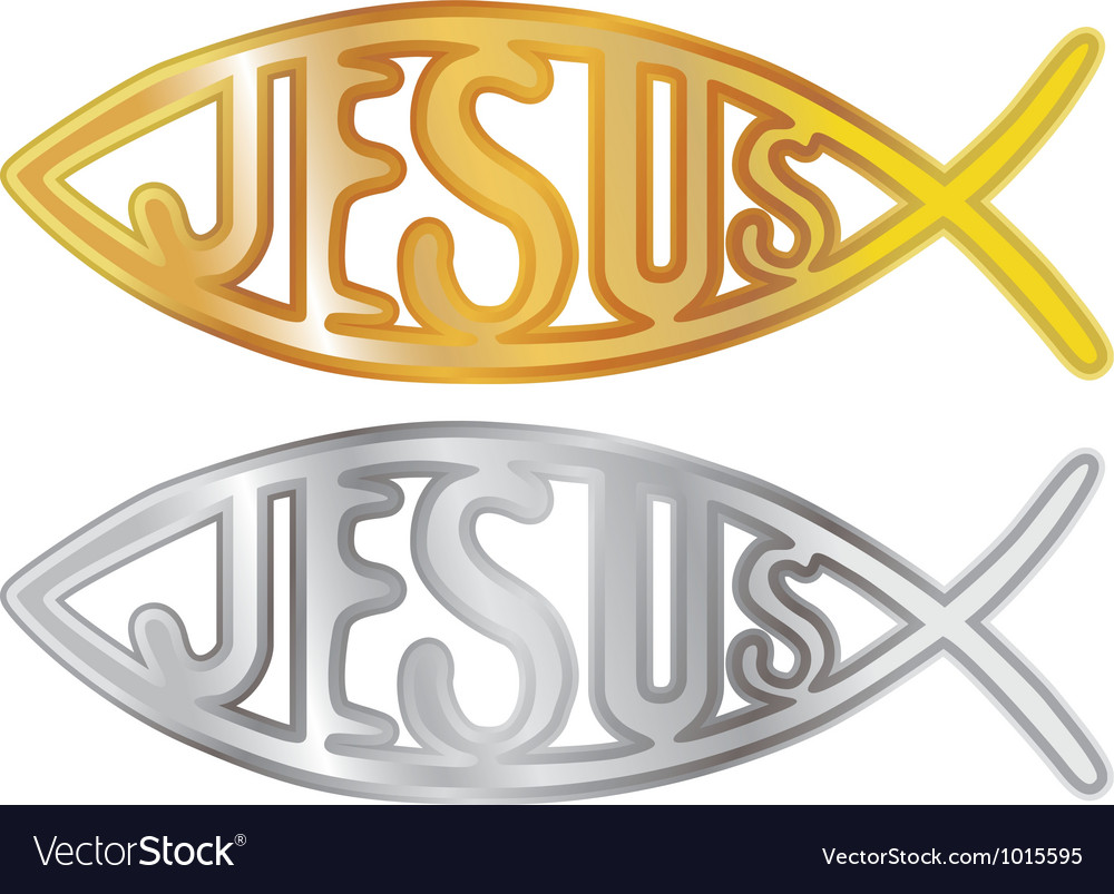 Christian fish symbol vector | Price: 1 Credit (USD $1)